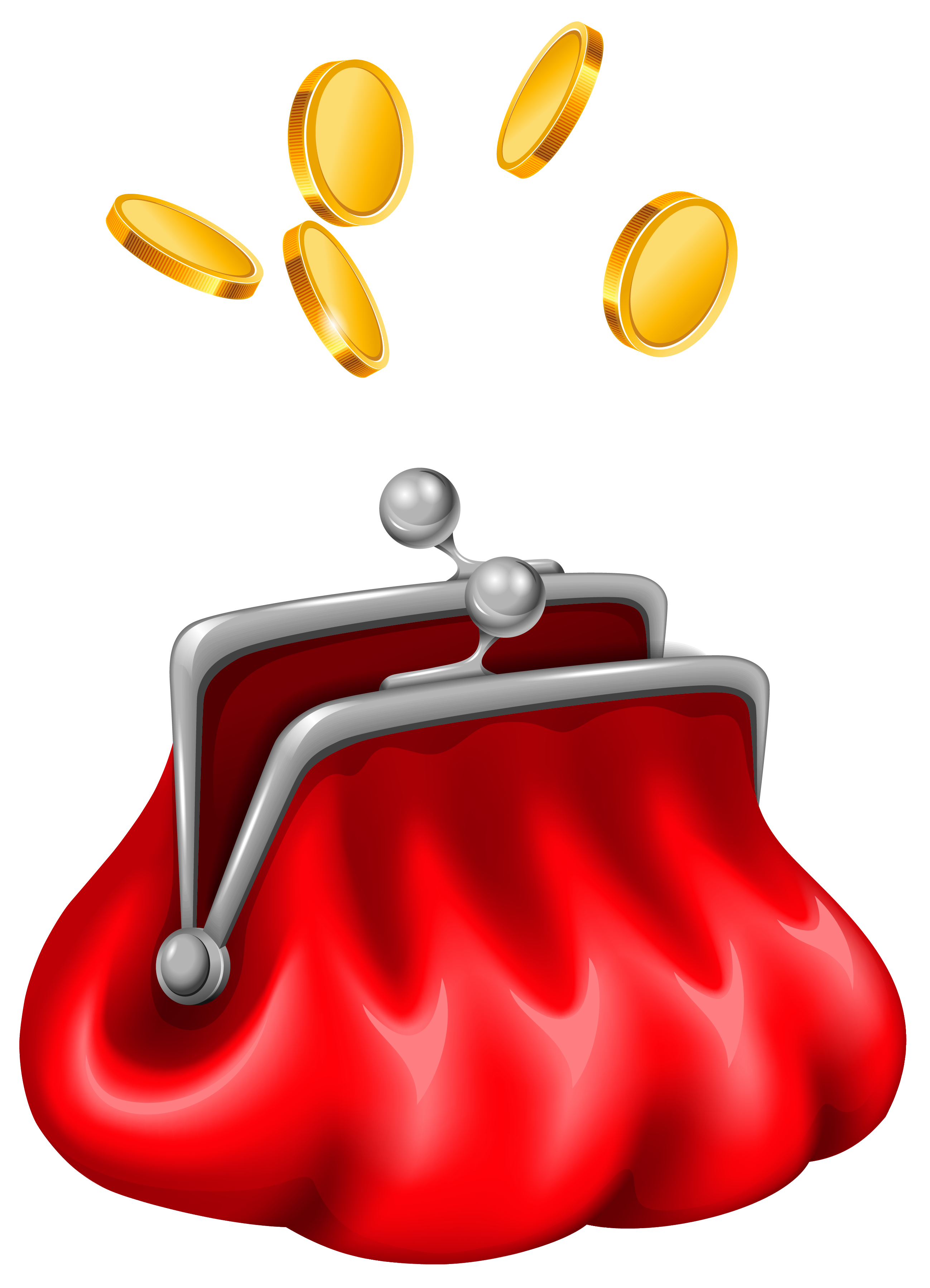 Coin purse clipart.