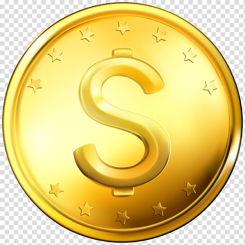 Gold coin , Coin transparent background PNG clipart.