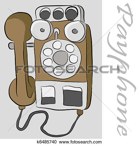 Clipart of Payphone Telephone k6485740.