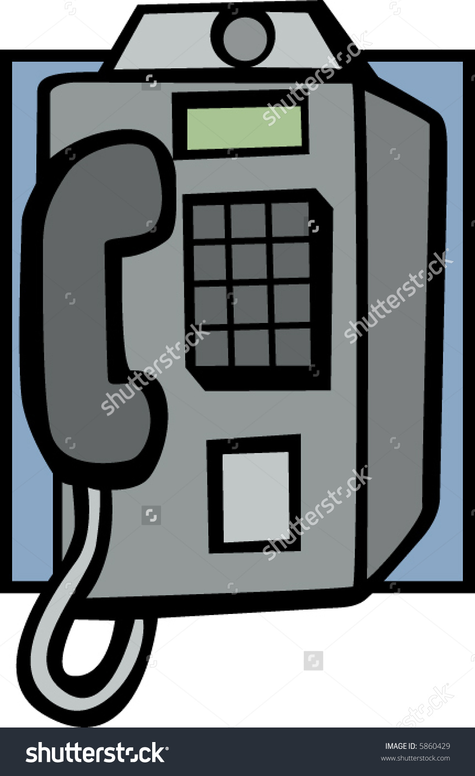 Coin Operated Public Telephone Stock Vector Illustration 5860429.