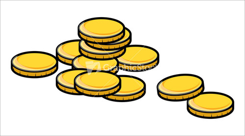 Cartoon Gold Coins Clipart.