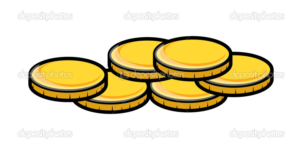 Bag Of Coins Clipart.