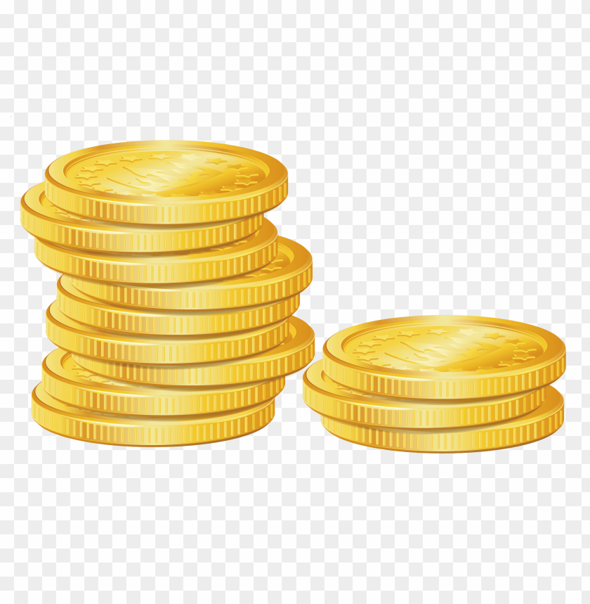 Download gold coins clipart png photo.