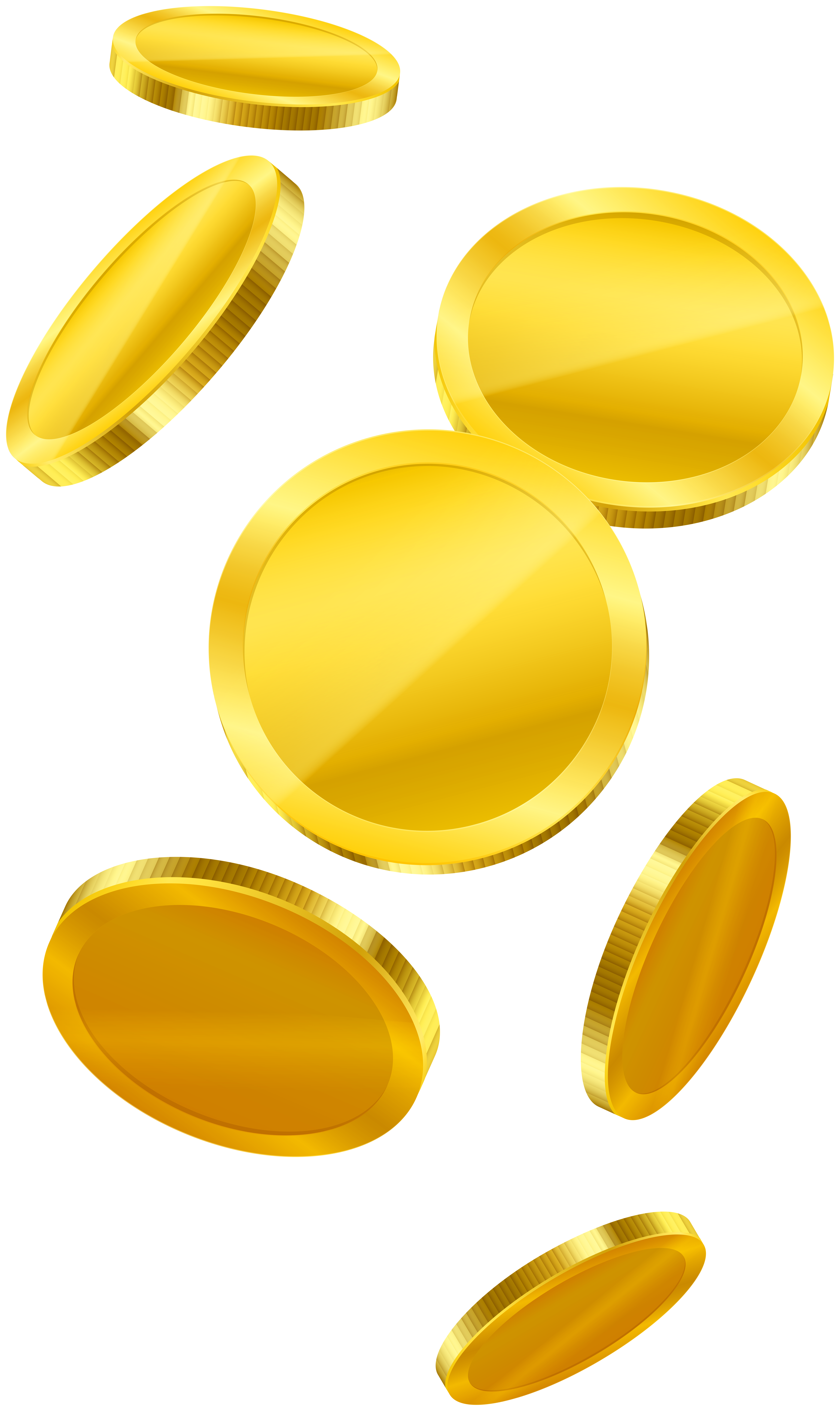 Gold Falling Coins PNG Clipart.