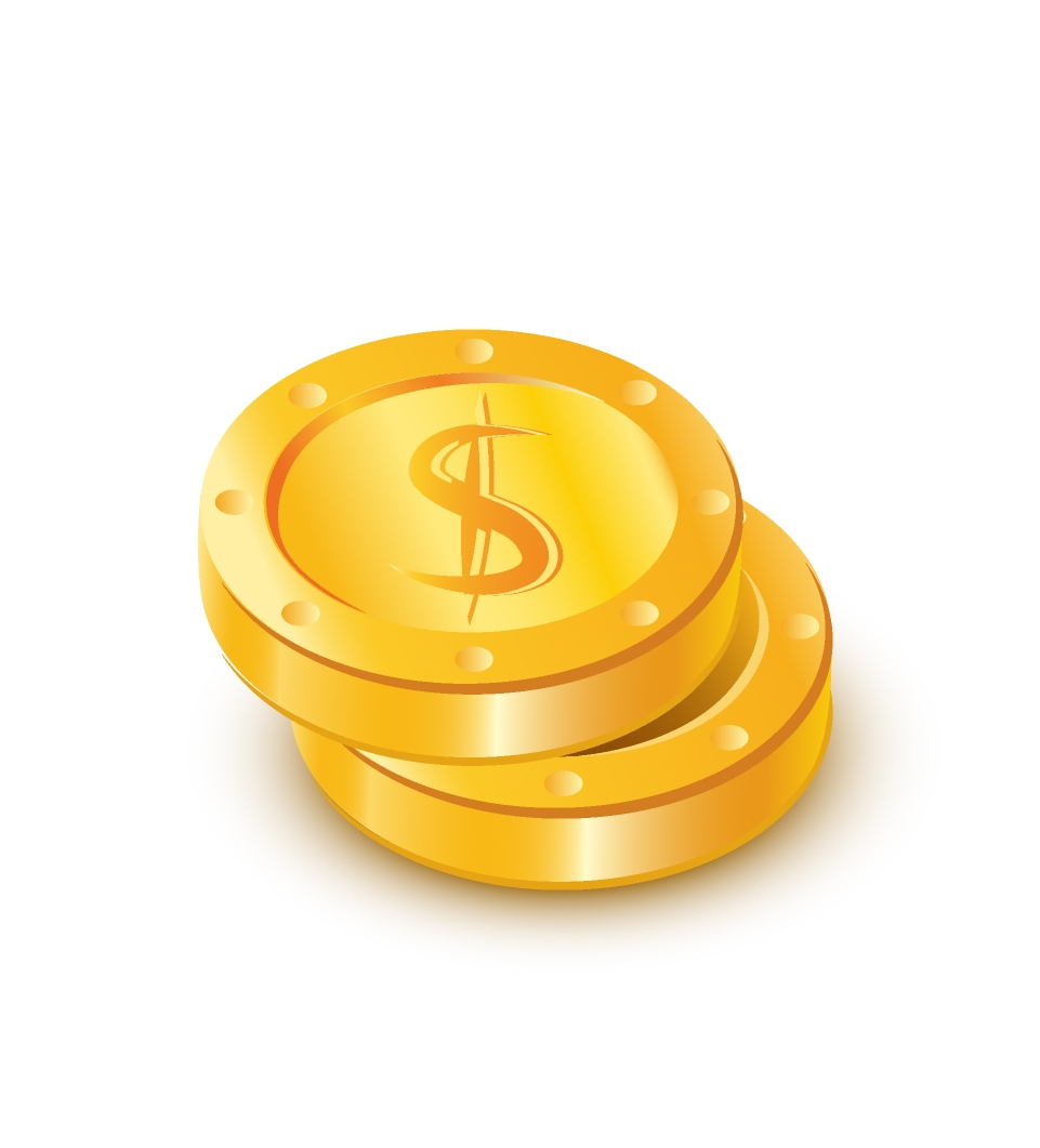Gold coins icon #3827.