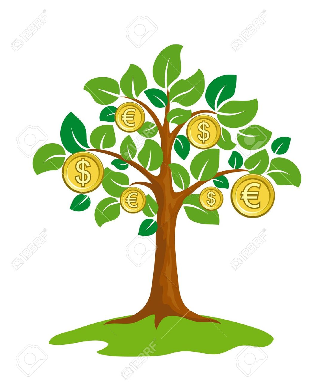 Money Tree With Coins. Royalty Free Cliparts, Vectors, And Stock.