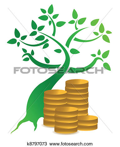 Clipart of money tree with coins illustration k8797073.