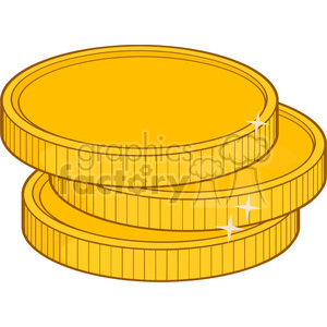 royalty free rf clipart illustration golden coins vector illustration  isolated on white background . Royalty.