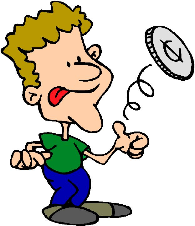 Coin Toss Clip Art free image.