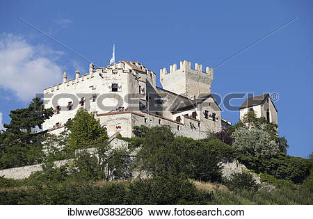 "Stock Images of ""Castel Coira Castle, Schluderns, Vinschgau Valley."