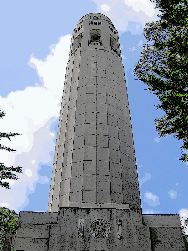 Coit Tower clipart.