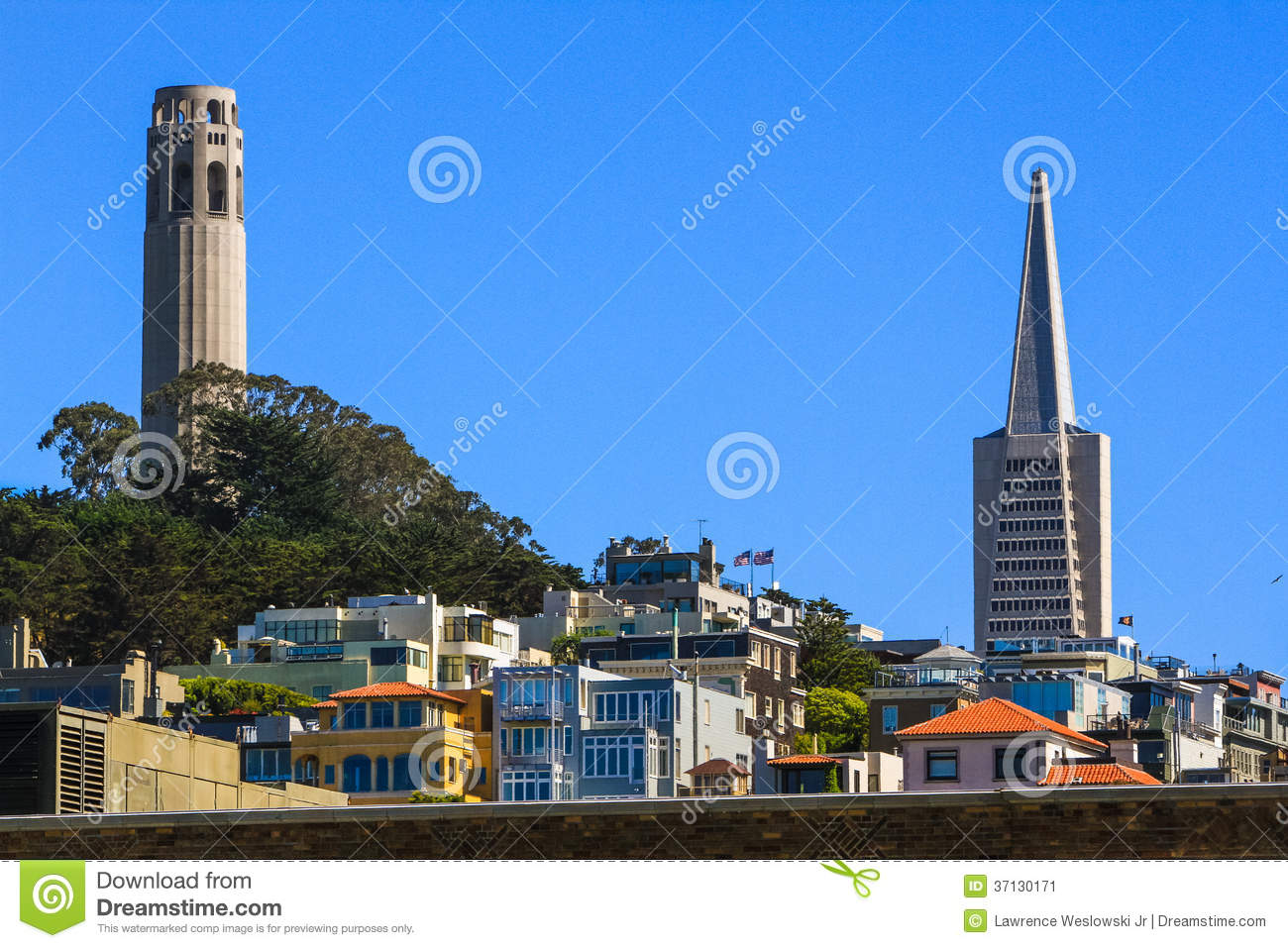 Coit Tower Murals Editorial Image.