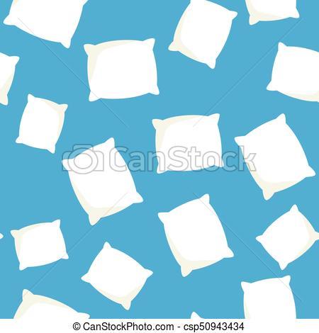 Patrón, seamless, vector, cojín, blanco, almohada. Azul.