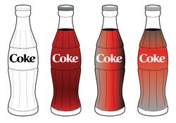 Coke bottle clipart.