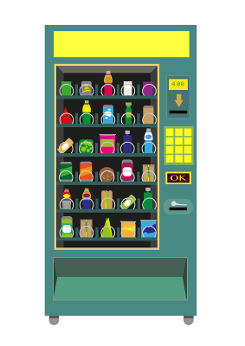 Vending machine clipart.