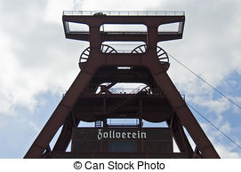 Stock Image of Detail of Coking plant at Zeche Zollverein Coal.