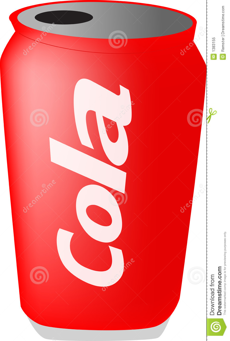 Cola can clipart.