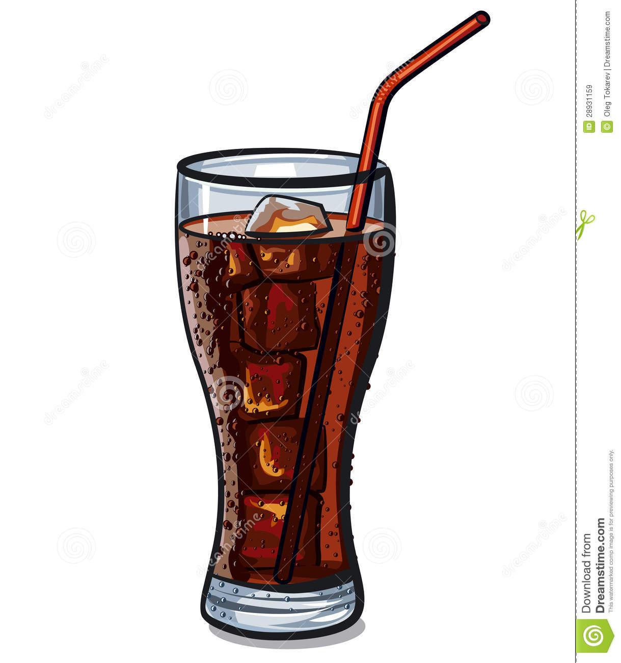 Cola glas clipart.