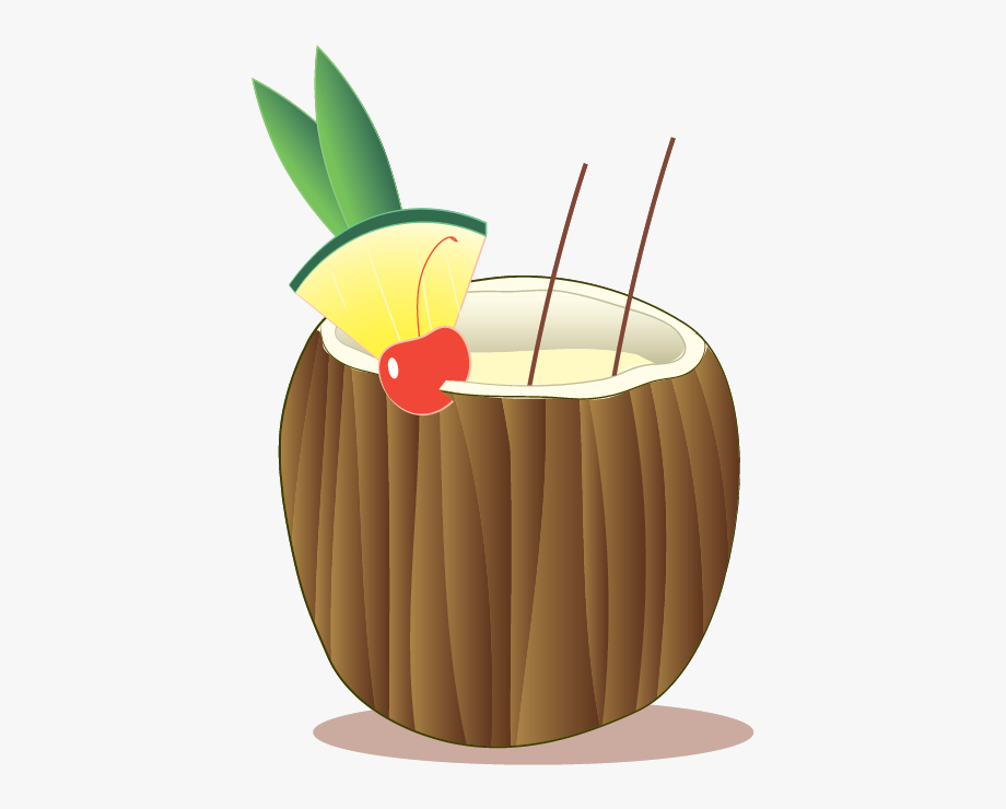 Coconut Transparent Straw Png.