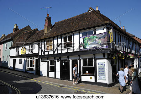 Stock Images of England, Essex, Colchester, The Purple Dog pub.