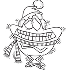 cold black and white clipart #19