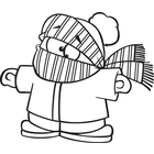 cold black and white clipart #20