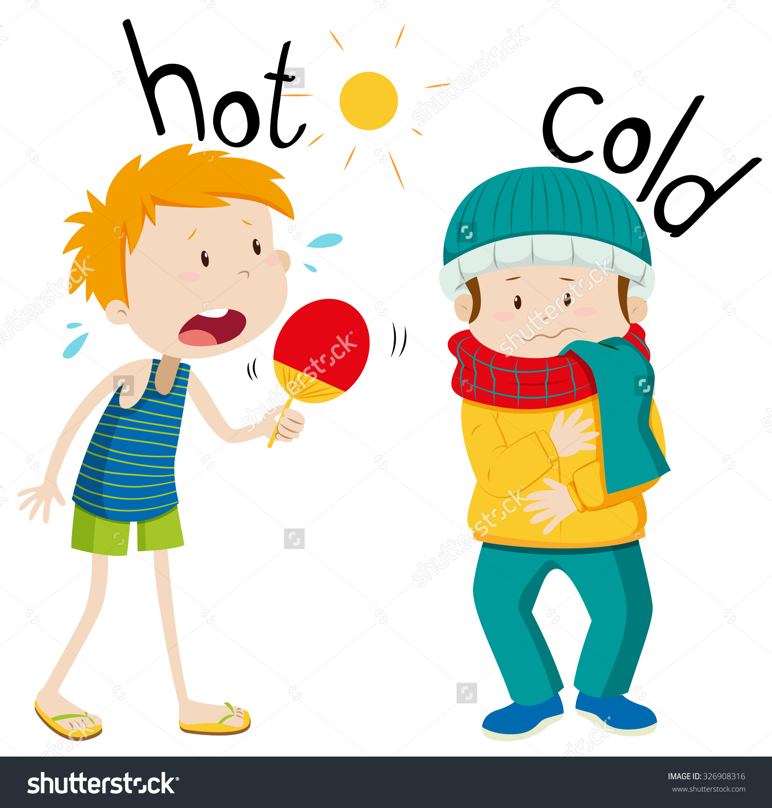 Hot and cold clipart.