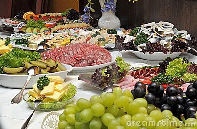 Cold Buffet Royalty Free Stock Photos.