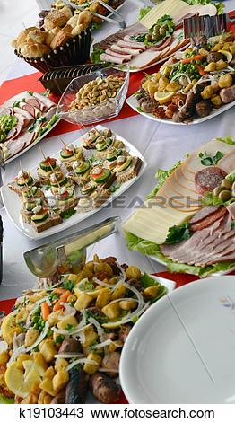 Stock Photo of Cold cuts, Buffet, Appetizers k19103443.