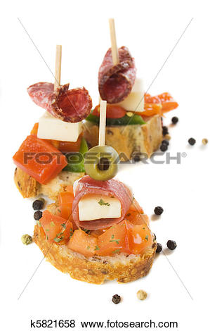 Pictures of Bruschetta, italian cold buffet k5821658.