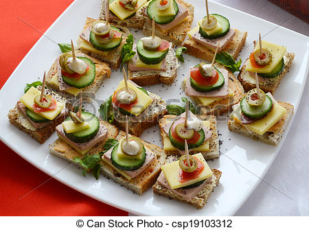 Stock Photography of Cold cuts, Buffet, Appetizers csp19103312.