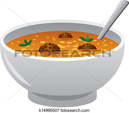 Chicken Noodle Soup Lunch Clipart.