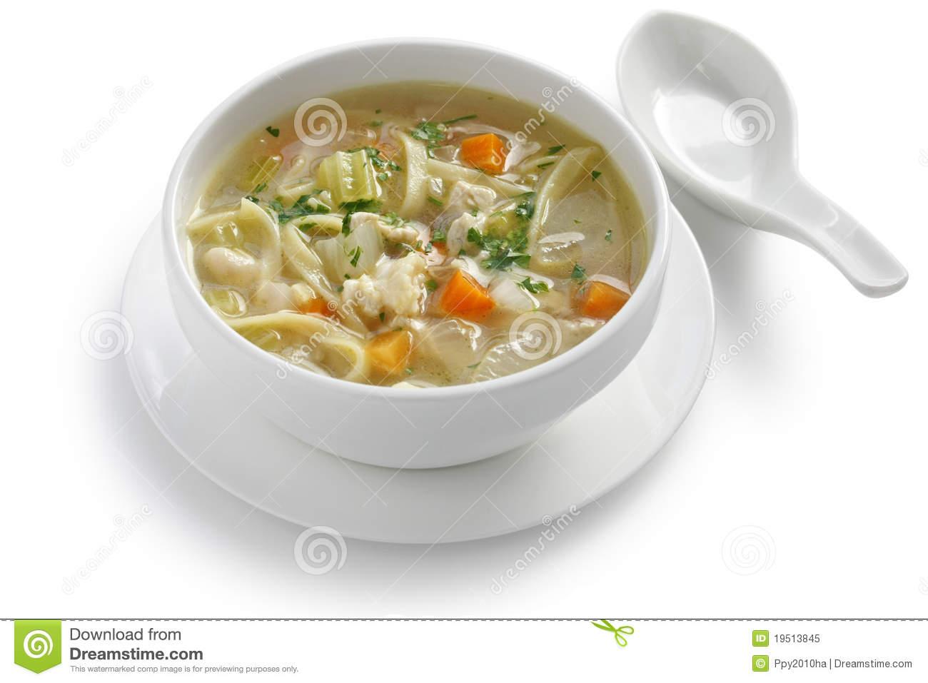 Cold chicken noodle soup clipart #20
