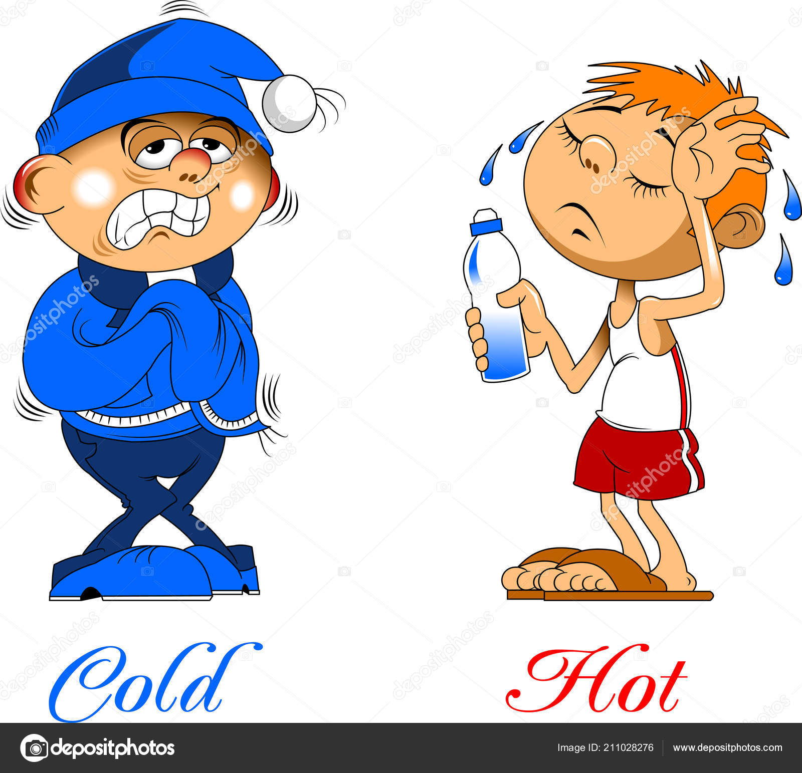 Clipart: hot and cold.