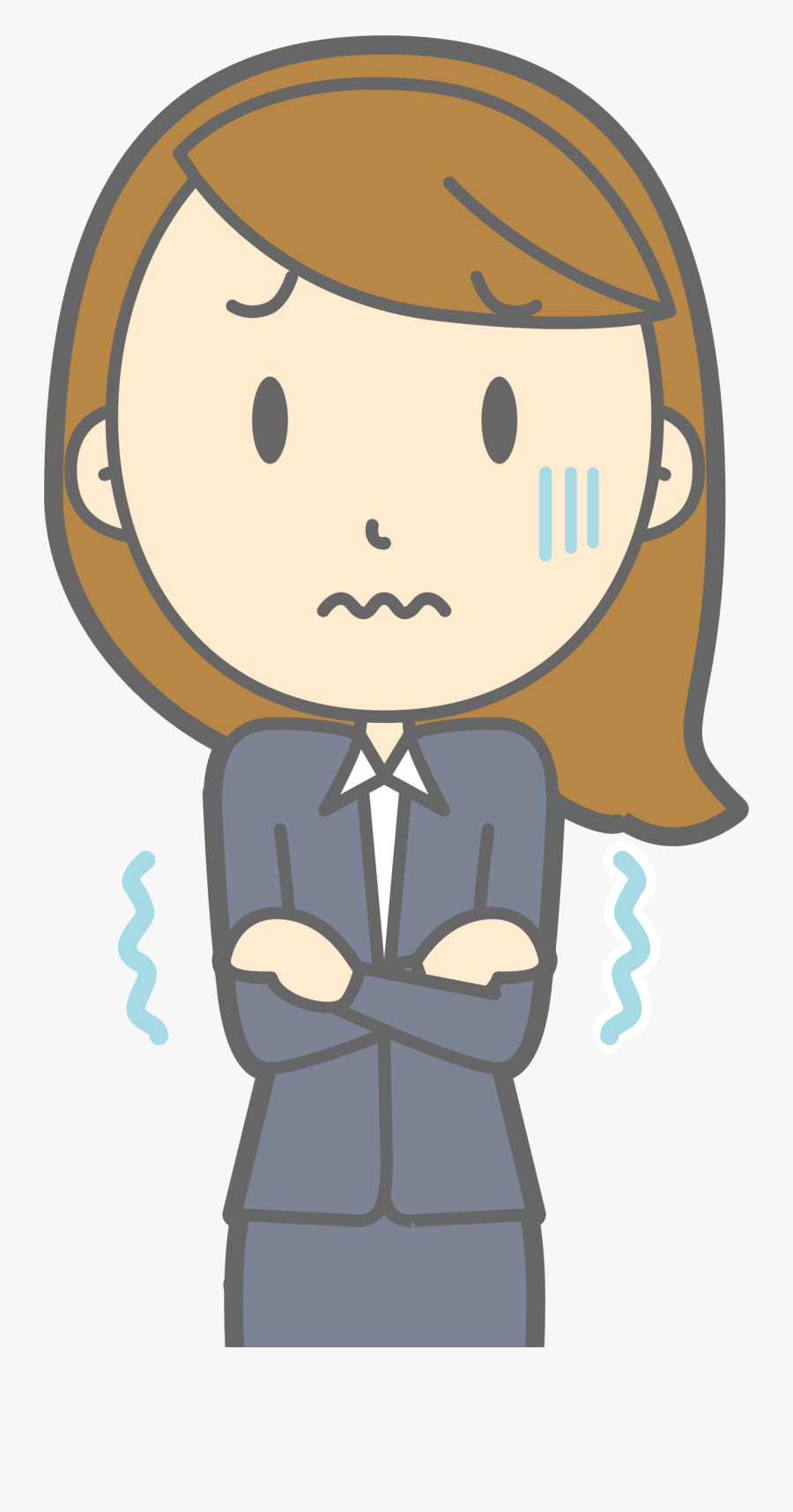 Cold Clipart Cold Girl.