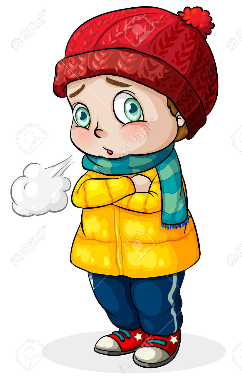 Feeling Cold Child Clipart.