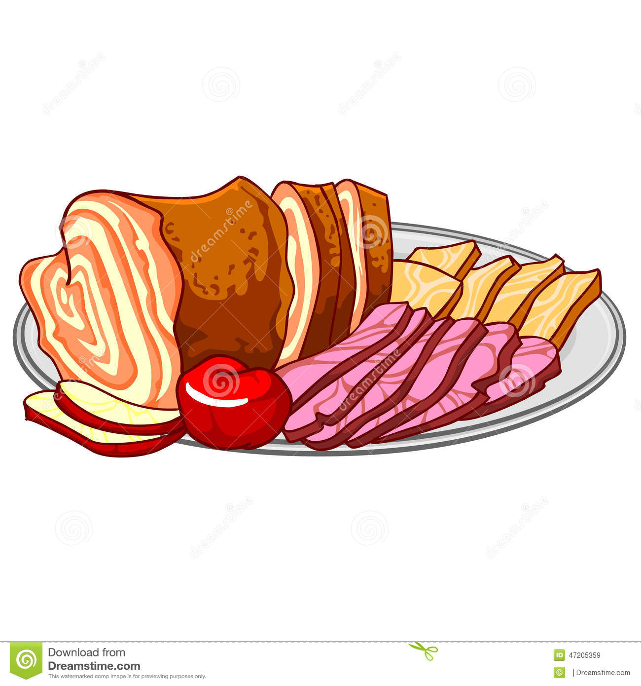 Cold cuts clipart #16
