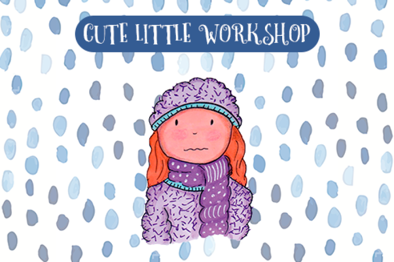 Cold day clipart By Cute Little Workshop.