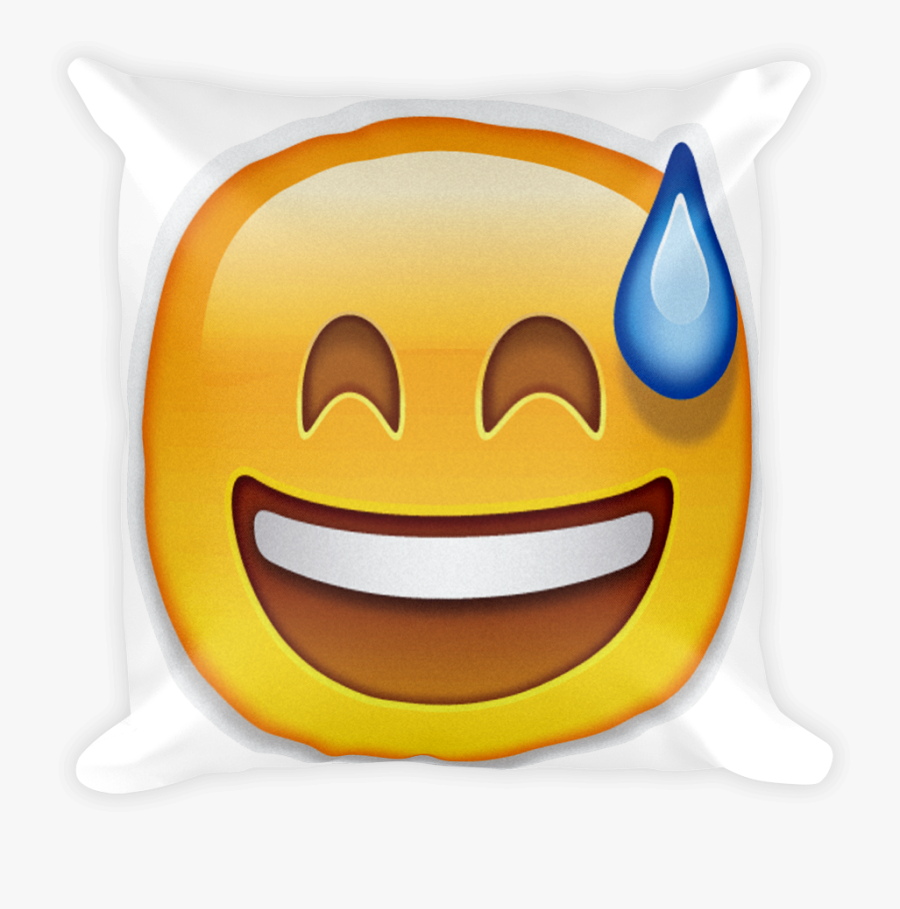 Smiling Face With Open Mouth And Cold Sweat , Png Download.