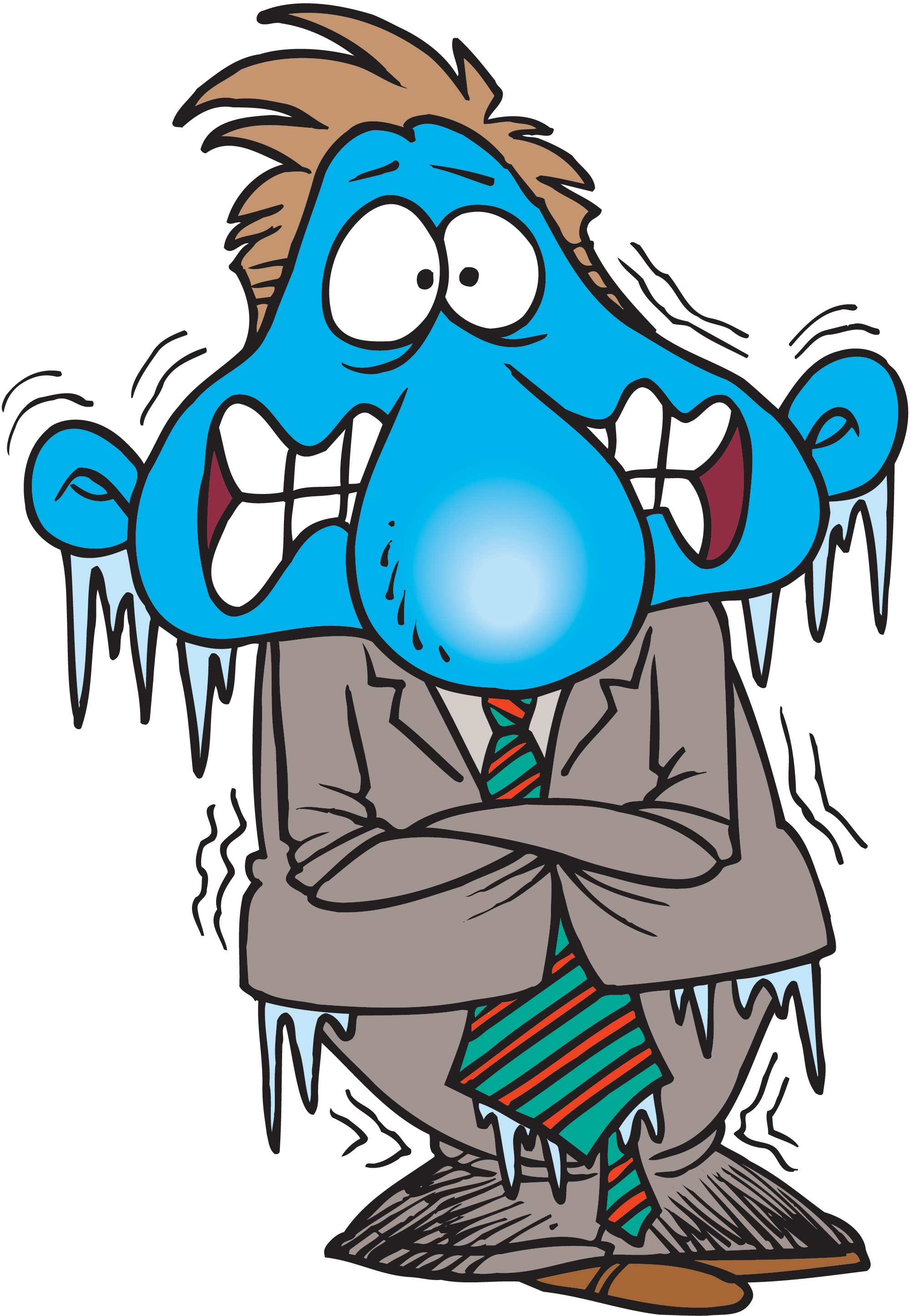 Freezing Cold Person Clipart.