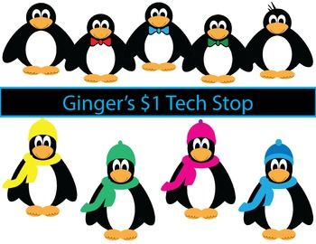 Penguin Clipart * Winter * Cold Weather.