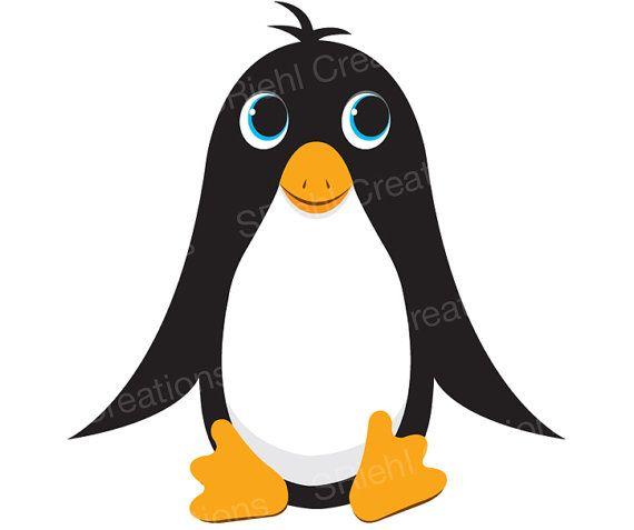 Cute Penguin Clipart.