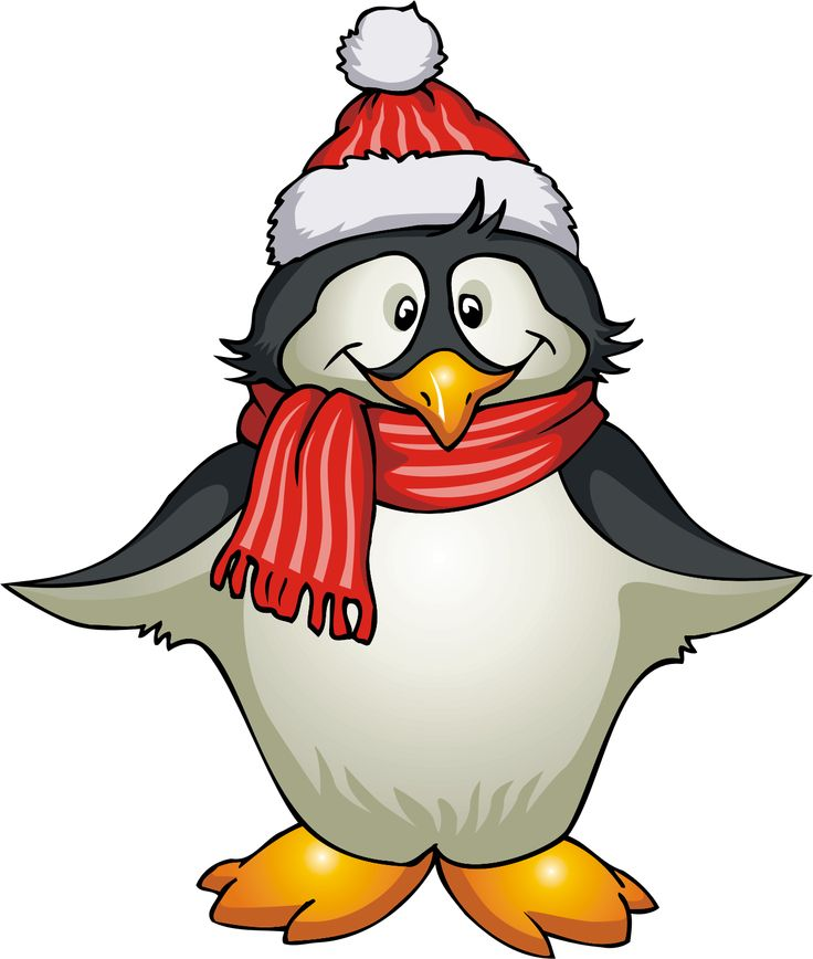 Funny penguin clipart image.