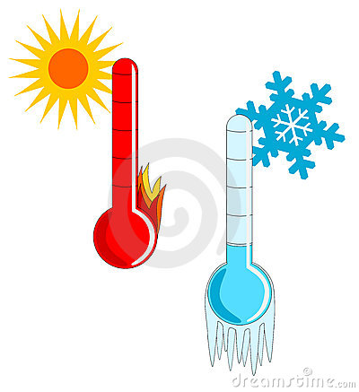 Weather Thermometer Hot.