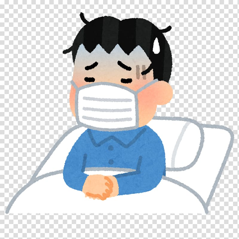 Illustrator いらすとや Chills Common cold, Sick man.