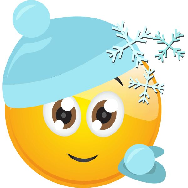 Cold clipart smiley face.