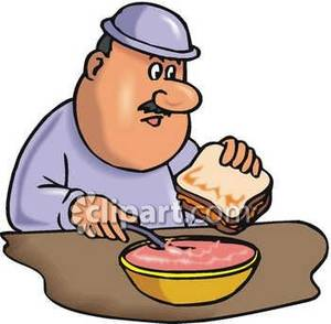 Soup And Sandwich Clipart.