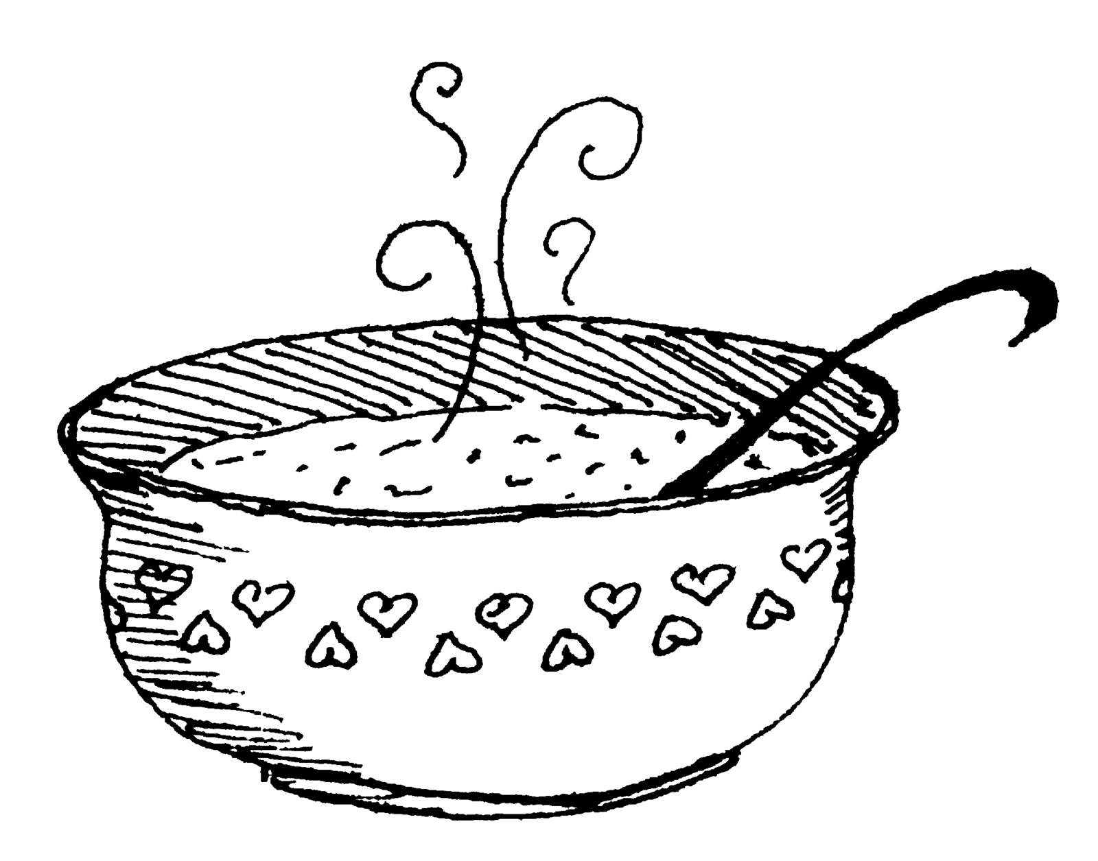 Hot and cold clipart black and white.