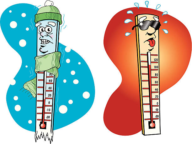 Best Cartoon Thermometer Illustrations, Royalty.