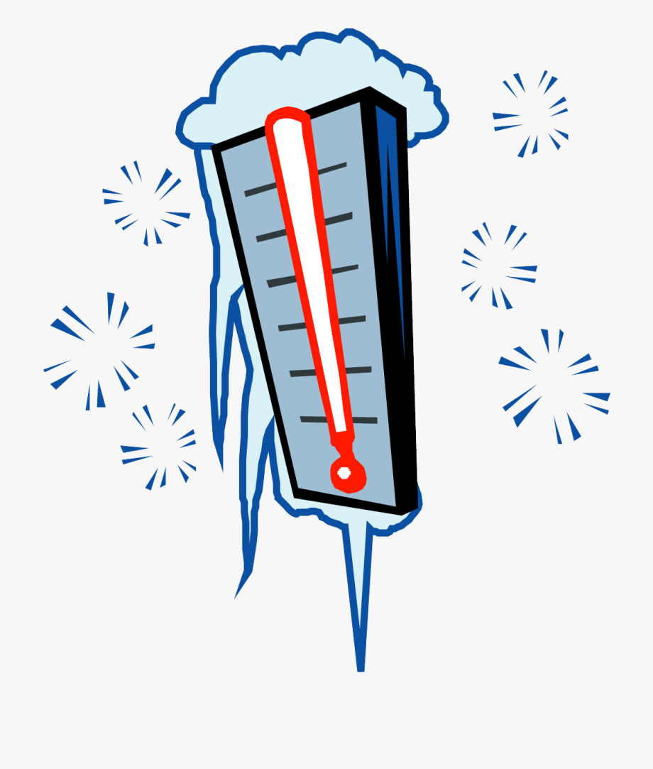 Cold Thermometer Clipart.